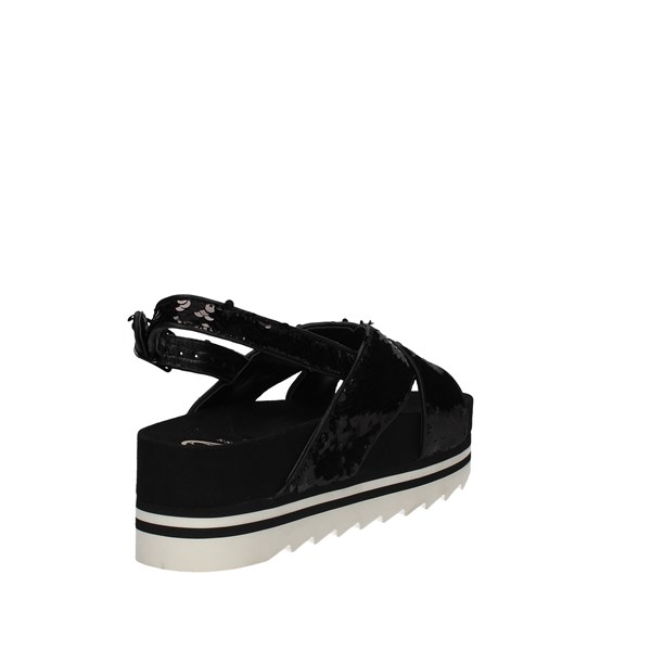Guess Flhrr2sat03 Black Shoes Woman