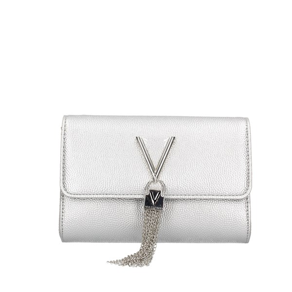 Valentino Bags Clutch Evening Clutch Bag Vbs1r403g Silver