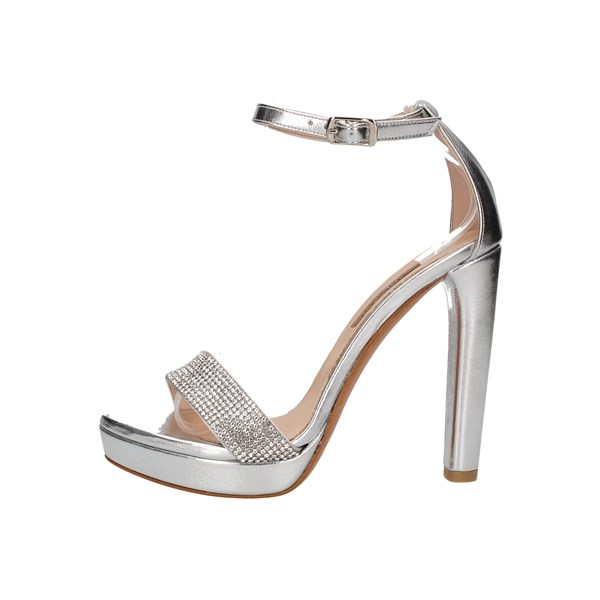 Albano Heeled Shoes Check 2132 Silver