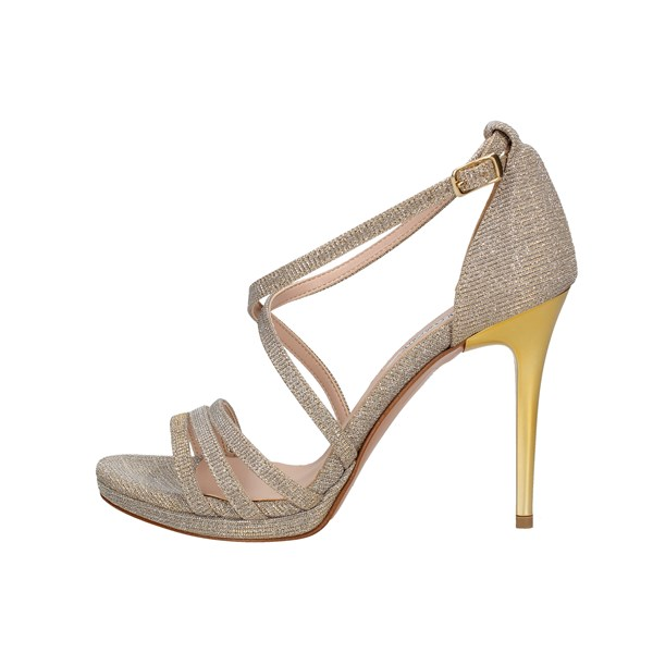 L'amour By Albano Heeled Shoes Check 949 Beige
