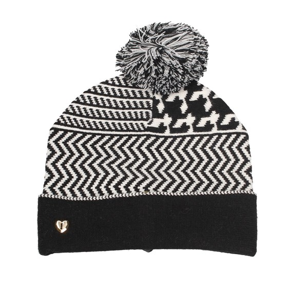 Mytwin By Twin Set Beanie White black
