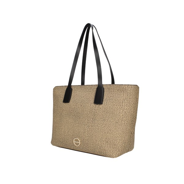 Borbonese Shopping bags Op Natural / black