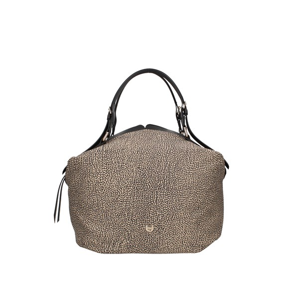 Borbonese shoulder bags Op Natural / black