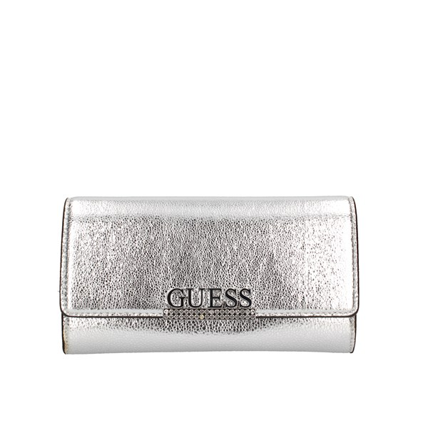 Guess Evening Clutch Bag Silver