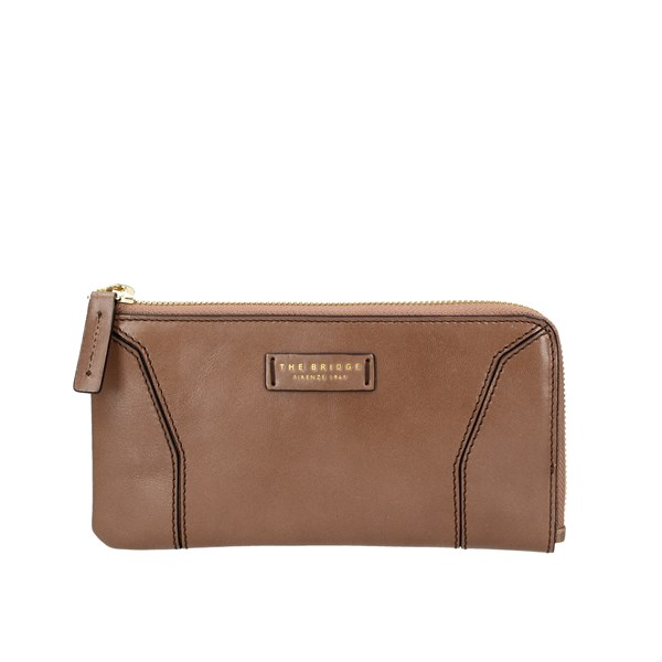 The Bridge Wallets With zip 01814001 Taupe