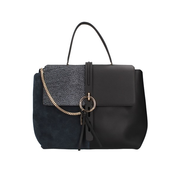 Borbonese Hand Bags Black / blue