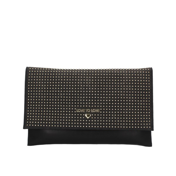 Love To Love Evening Clutch Bag Black