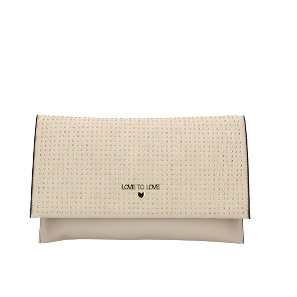 Love To Love Evening Clutch Bag Beige