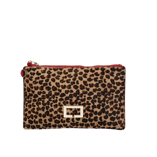 Loristella Clutch Leopard / red
