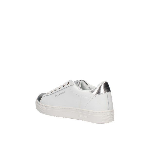Trussardi Jeans  low White / silver