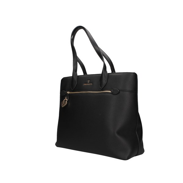 Trussardi Jeans Shopping Bag Black