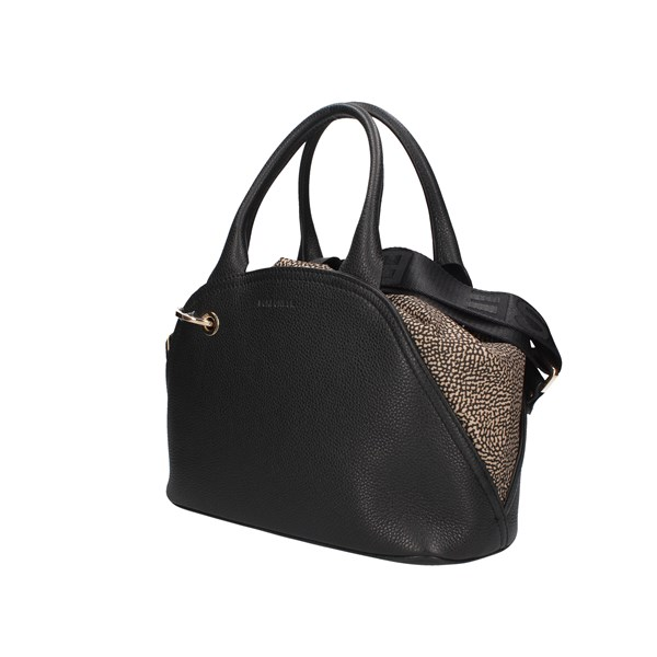 Borbonese Handbag Black / Natural Op