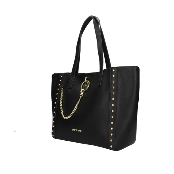 Love To Love Shopping Bag Black