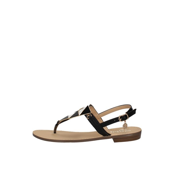 Gold&gold Sandal White black