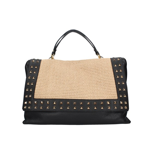 Loristella Shoulder bag Black / natural
