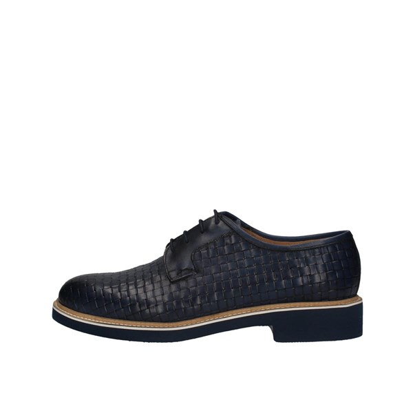 L'homme National 1023/intrecciato Blue Shoes Man